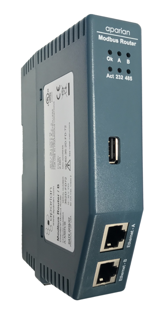 Aparian Modbus Series B with USB and dual Ethernet ports